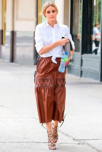 olivia-palermo-street-style-knot-shirt-lace-up-heels-leather-pants