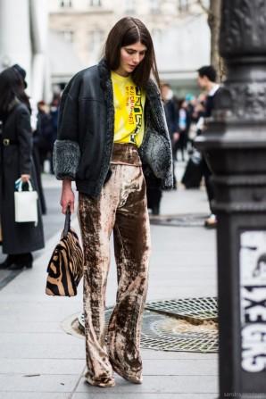 ursina-gysi-velvet-flare-pants-fall-street-style